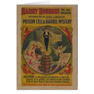 Vintage Harry Houdini Poster Card