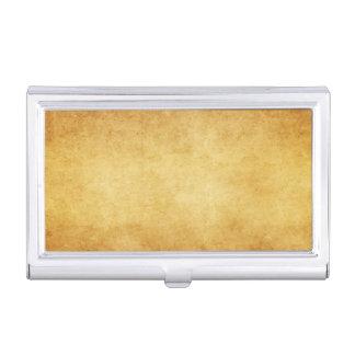 Vintage Harvest Gold Parchment Antique Paper Blank Business Card Holder