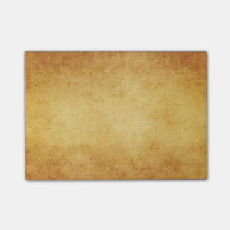 Vintage Harvest Gold Parchment Antique Paper Blank Post-it Notes