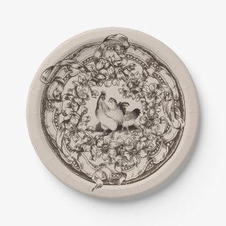 Vintage Harvest Paper Plate Hens
