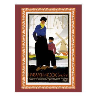 Vintage Harwich Hoek Van Holland ship Postcard