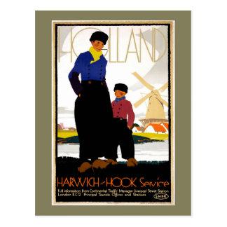 Vintage Harwich- Hook Travel Postcard