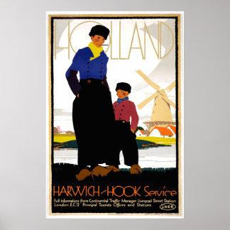 Vintage Harwich- Hook Travel Poster