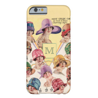 Vintage Hats Custom Monogram cases Barely There iPhone 6 Case