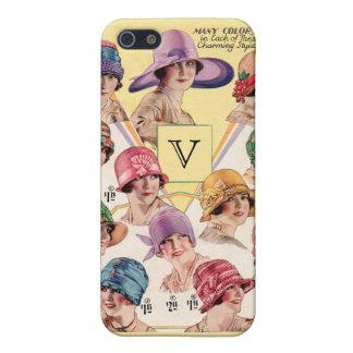 Vintage Hats Custom Monogram cases iPhone 5/5S Case