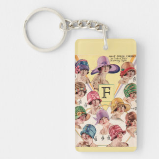 Vintage Hats Custom Monogram key chain