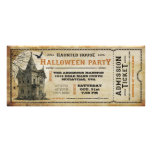 Vintage Haunted House Halloween Party Ticket I