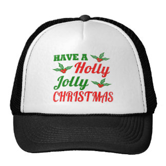 Vintage Have a Holly Jolly Christmas Shirt Hats