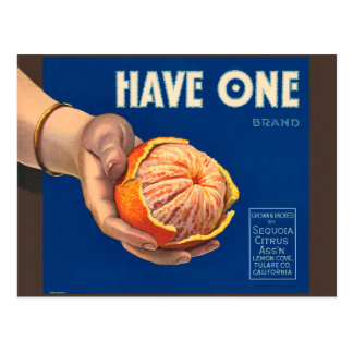 Vintage Have One Brand Sequoia Advertisement Postcard