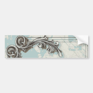 vintage hawaii hibiscus floral tropical wedding bumper sticker
