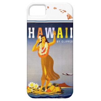 Vintage Hawaii Hula Art Hawaiian Islands Map Barely There iPhone 5 Case