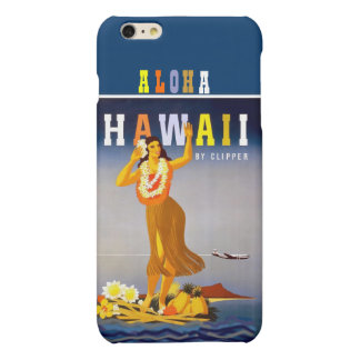 Vintage Hawaii Hula Dancer iPhone 6 Plus Case