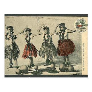 Vintage Hawaii Hula Dancers Postcard