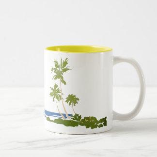 Vintage Hawaii landscape mug