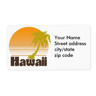 Vintage Hawaii Shipping Label
