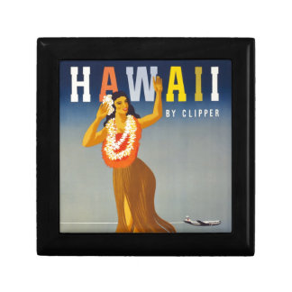 Vintage Hawaii Tourism Poster Scene Gift Box