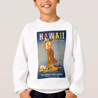 Vintage Hawaii Tourism Poster Scene Sweatshirt