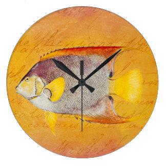 Vintage Hawaiian Angel Fish - Antique Hawaii Large Clock