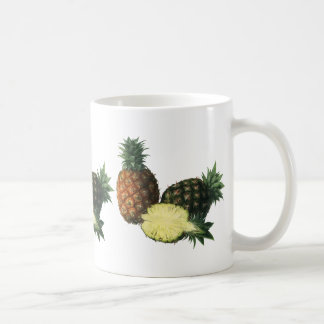 Vintage Hawaiian Pineapples, Organic Food Fruit Basic White Mug