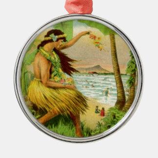 Vintage Hawaiian Travel Christmas Ornament
