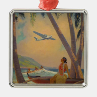 Vintage Hawaiian Travel - Hawaii Girl Dancer Christmas Ornament