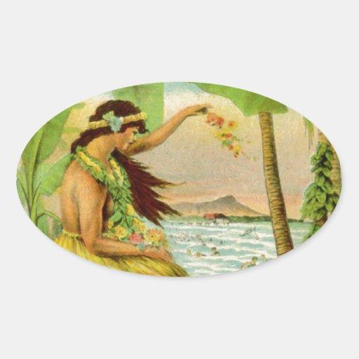 Vintage Hawaiian Travel Sticker