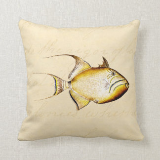 Vintage Hawaiian Trigger Fish Customized Template Cushion