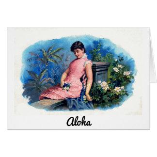 Vintage Hawaiian Tropical Beauty Hawaii Card