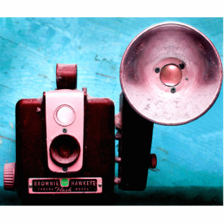 Vintage Hawkeye Brownie Camera Standing Photo Sculpture