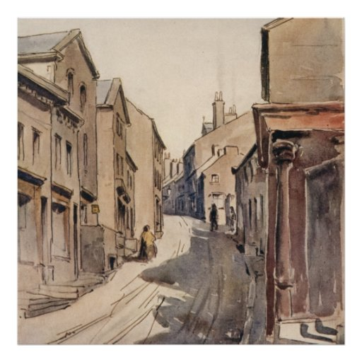 Vintage Haworth West Yorkshire England Bronte Print