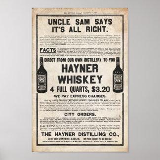Vintage Hayner Whiskey Print