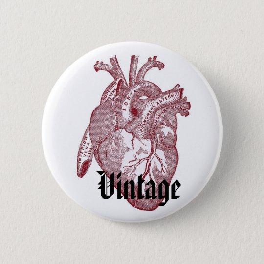 Vintage Heart 6 Cm Round Badge
