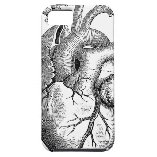 Vintage Heart Anatomy | Customizable iPhone 5 Cases
