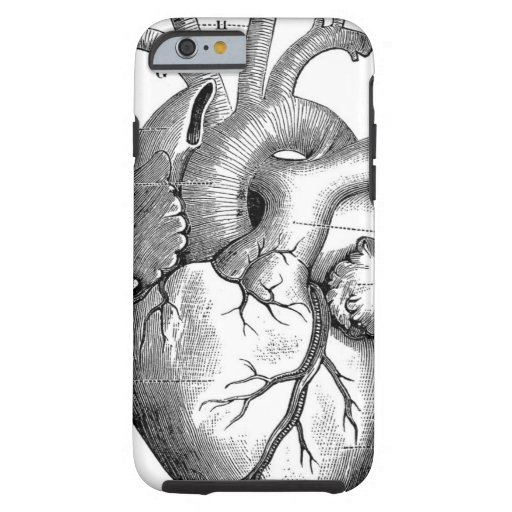 Vintage Heart Anatomy   Customizable iPhone 6 Case