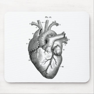 Vintage Heart Anatomy | Customizable Mouse Pad