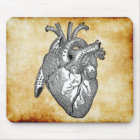 vintage heart anatomy mouse mat