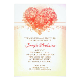 vintage heart blooms creative bridal shower invite