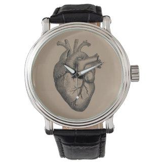 Vintage Heart Illustration Watch