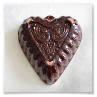 Vintage Heart Kugelhopf Mould Photo Print