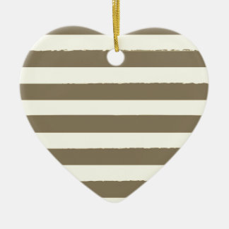 Vintage heart with Stripes Ceramic Heart Decoration