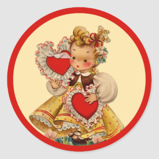 Vintage Hearts Sweetheart Sticker