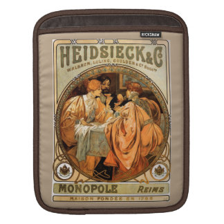 Vintage Heidsieck & Co Monopole Reims Wine Label Sleeve For iPads