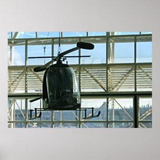 vintage helicopter poster
