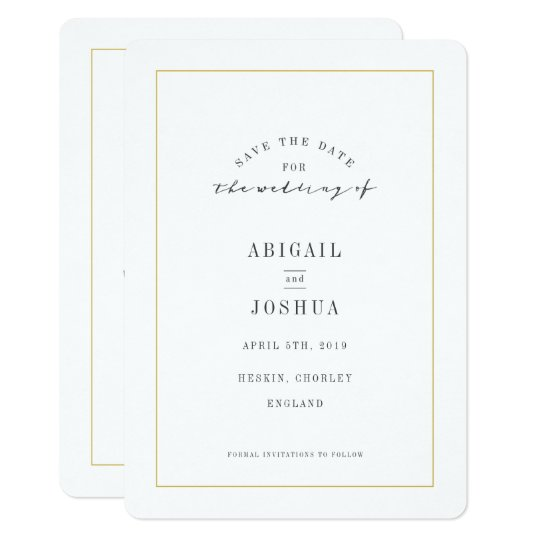 VINTAGE HELIOTROPE SAVE THE DATE CARD