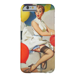 Vintage helium Party balloons Elvgren Pin up Girl Barely There iPhone 6 Case