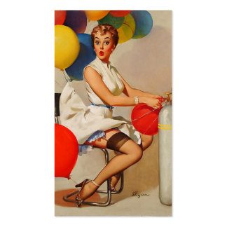 Vintage helium Party balloons Elvgren Pin up Girl Pack Of Standard Business Cards