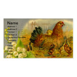 Vintage Hen and Chicks Business Card Templates