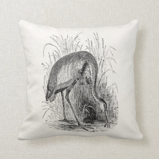 Vintage Heron Bird Personalized Tropical Birds Cushion