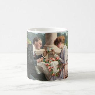 Vintage Herr und Frau, Liebe Kaffeehaferl