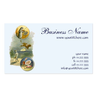 Vintage Hey Diddle Diddle Cat Fiddle Cow Moon Business Cards
